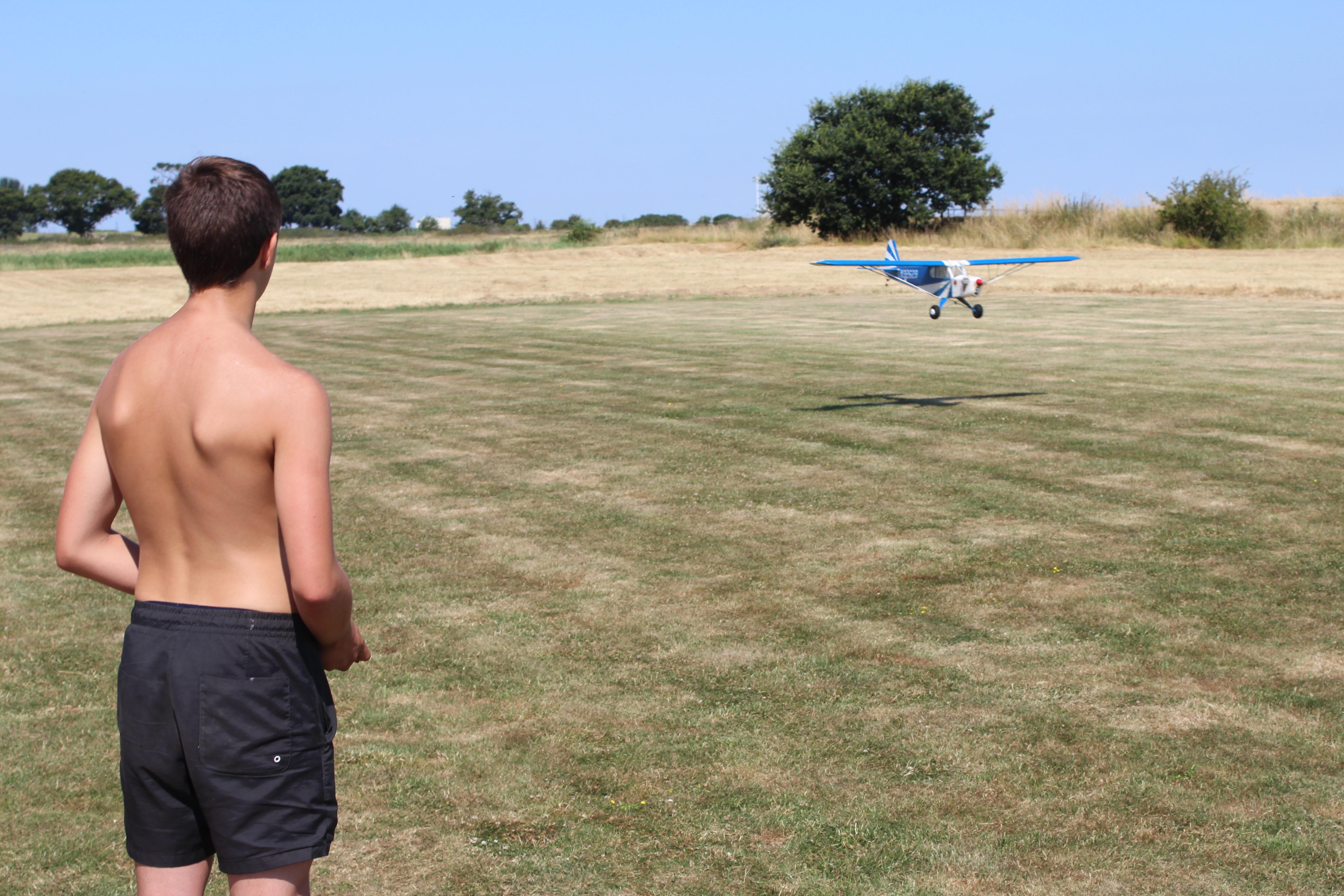 Alfie landing the Cub